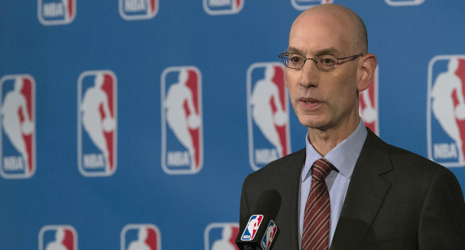 NBA commissioner Adam Silver proposed the regulation of legalized sports gambling four years ago. (AP)