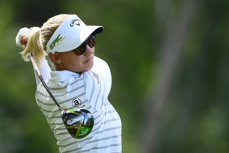 Sweden's Madelene Sagstrom fired a 10-under par 62 Friday to seize the early clubhouse lead in the second round at the Gainbridge LPGA at Boca Rio