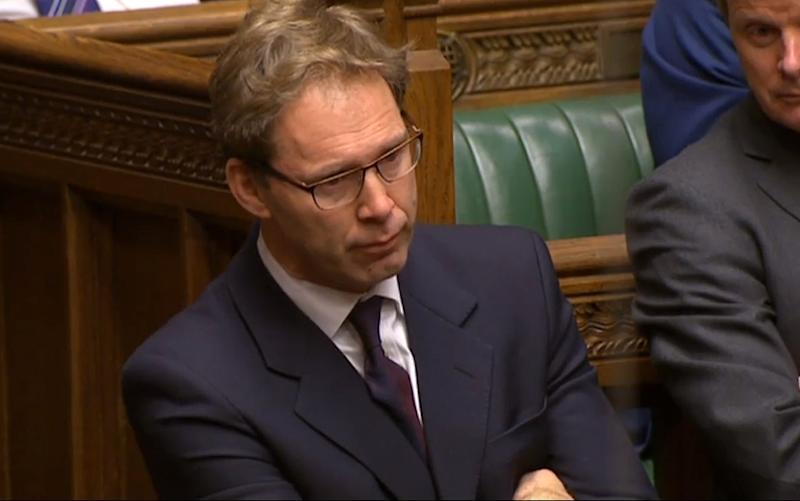 Conservative MP Tobias Ellwood looks on as Theresa May speaks to MPs in the aftermath of the terror attack - Credit: PA