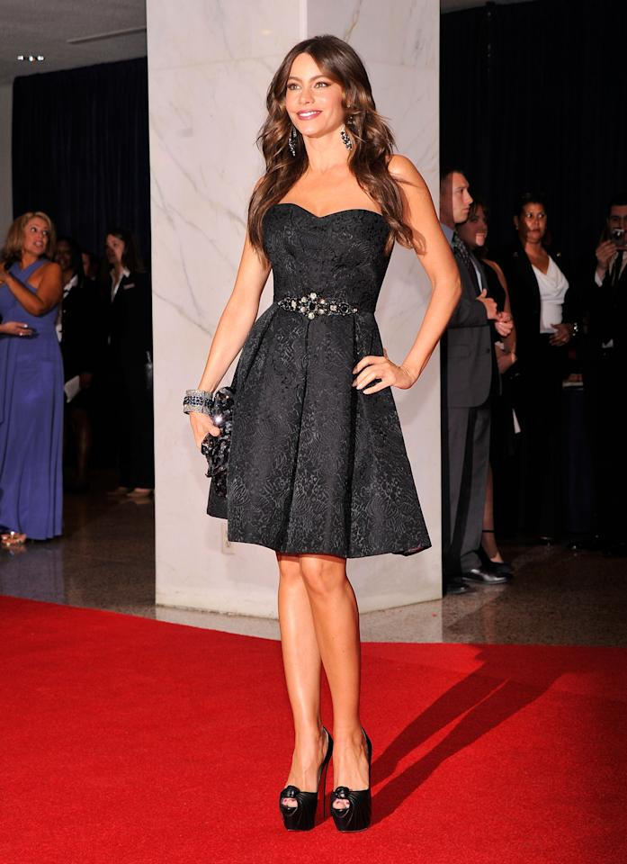 WASHINGTON, DC - APRIL 28:  Actress Sofía Vergara attends the 98th Annual White House Correspondents' Association Dinner at the Washington Hilton on April 28, 2012 in Washington, DC.  (Photo by Stephen Lovekin/Getty Images)