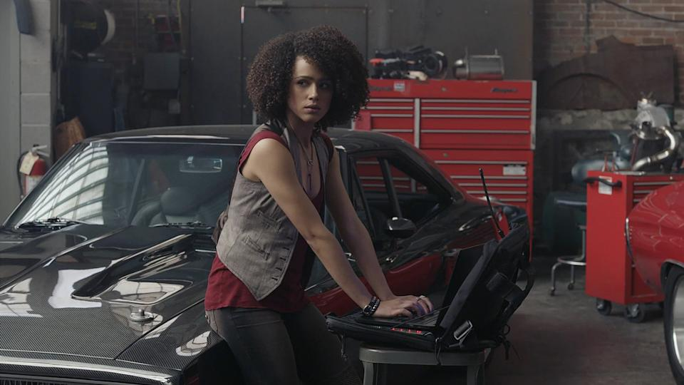Nathalie Emmanuel plays computer hacker Ramsey in the 'Fast & Furious' franchise. (Credit: Universal)