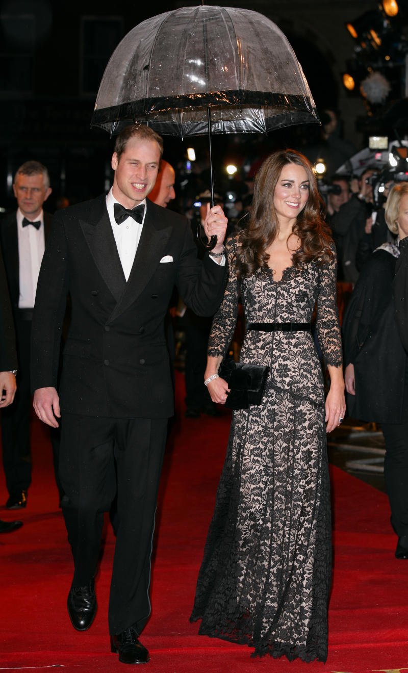Príncipe William e Kate Middleton na premiere do filme 'Cavalo de Guerra' em Londres, na Inglaterra, em 2012 (Foto: Indigo/Getty Images)