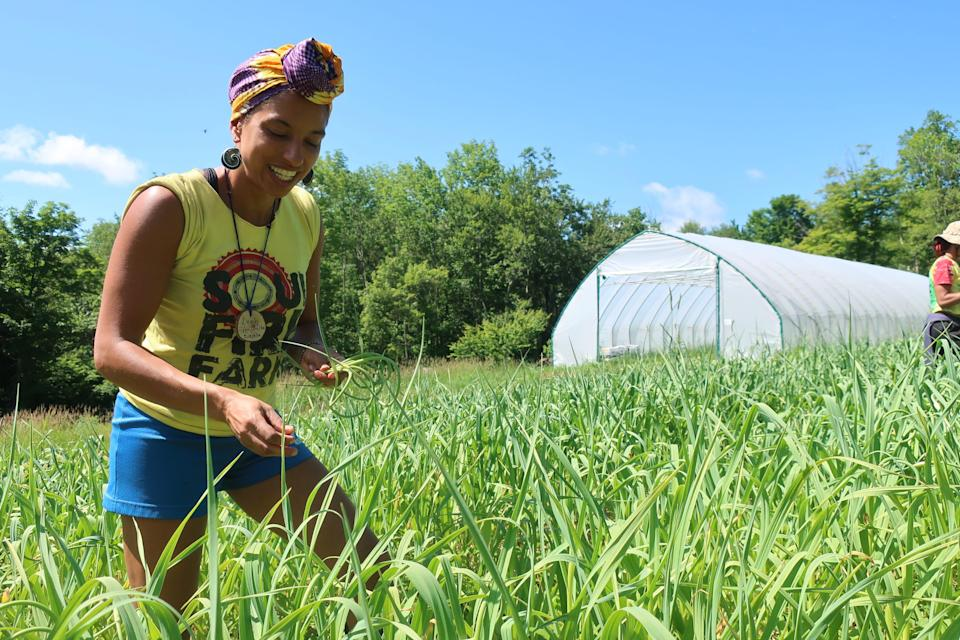 Leah Penniman owns and operates Soul Fire Farm in Albany, N.Y.