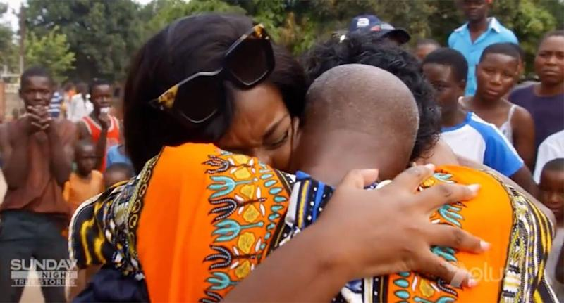 Abigail Prang is reunited with her biological family in Zimbabwe. Source: Sunday Night/Seven Network