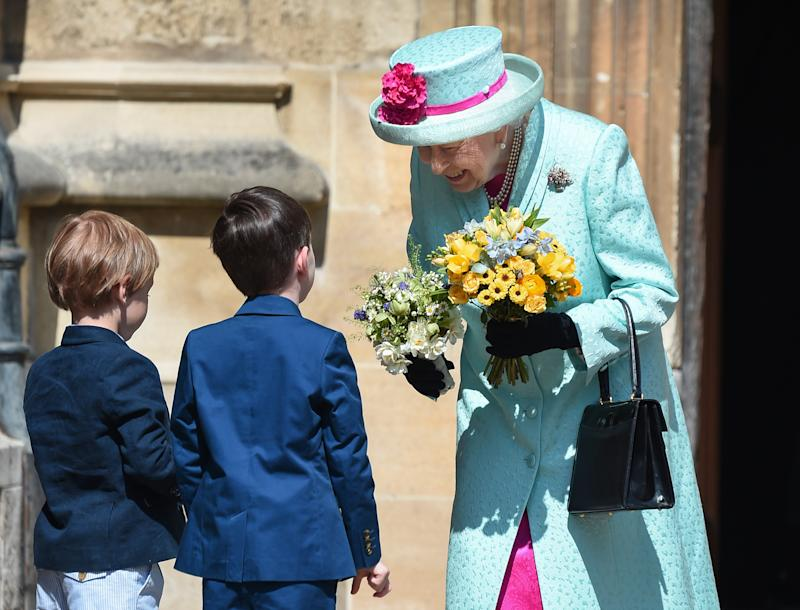 WINDSOR, ENGLAND - APRIL 21: Queen Elizabeth II departs the Easter Sunday service at St George's Chapel on April 21, 2019 in Windsor, England. (Photo by Eamonn M. McCormack/Getty Images) | Eamonn M. McCormack—Getty Images