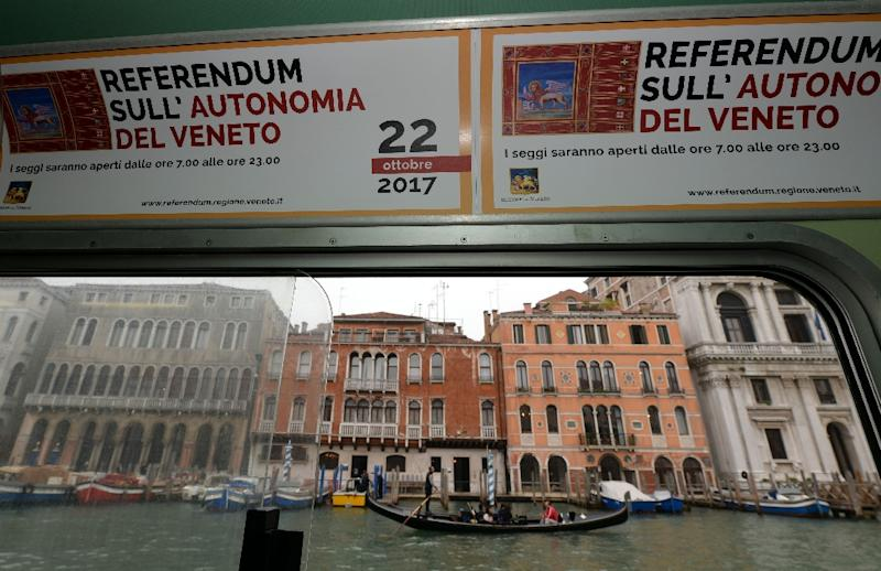 95 percent of voters in Veneto and Lombardy support plans for more autonomy (AFP Photo/ANDREA PATTARO)