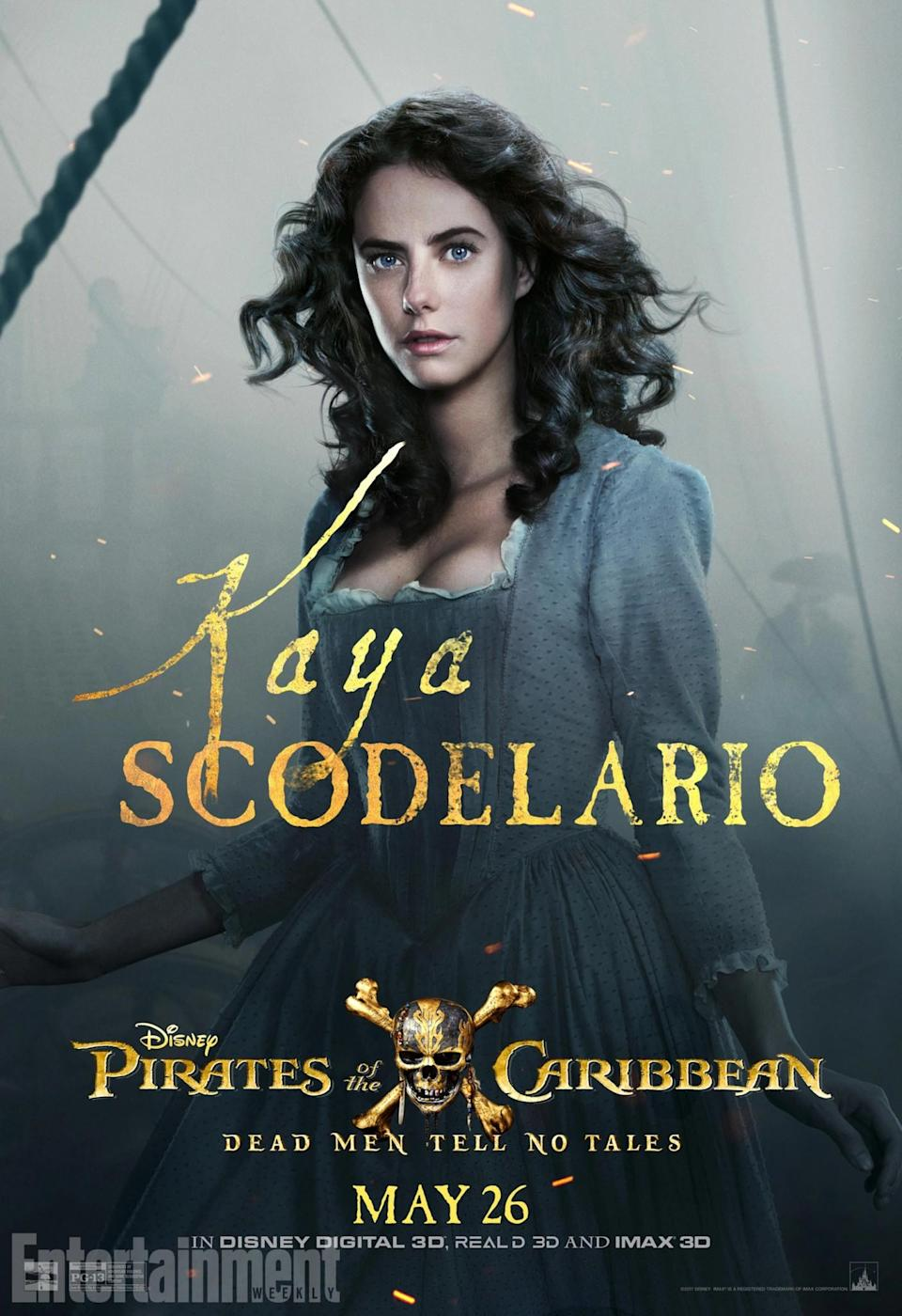 <p>A complete newcomer to the franchise, Kaya Scodelario plays Carina Smyth – a brilliant young scholar who's been researching the Trident of Poseidon… and wants to track down the powerful artefact herself. But will she get anywhere near with the help of Captain Jack? Or will he double cross her at the first opportunity?<br>(Credit: Disney) </p>