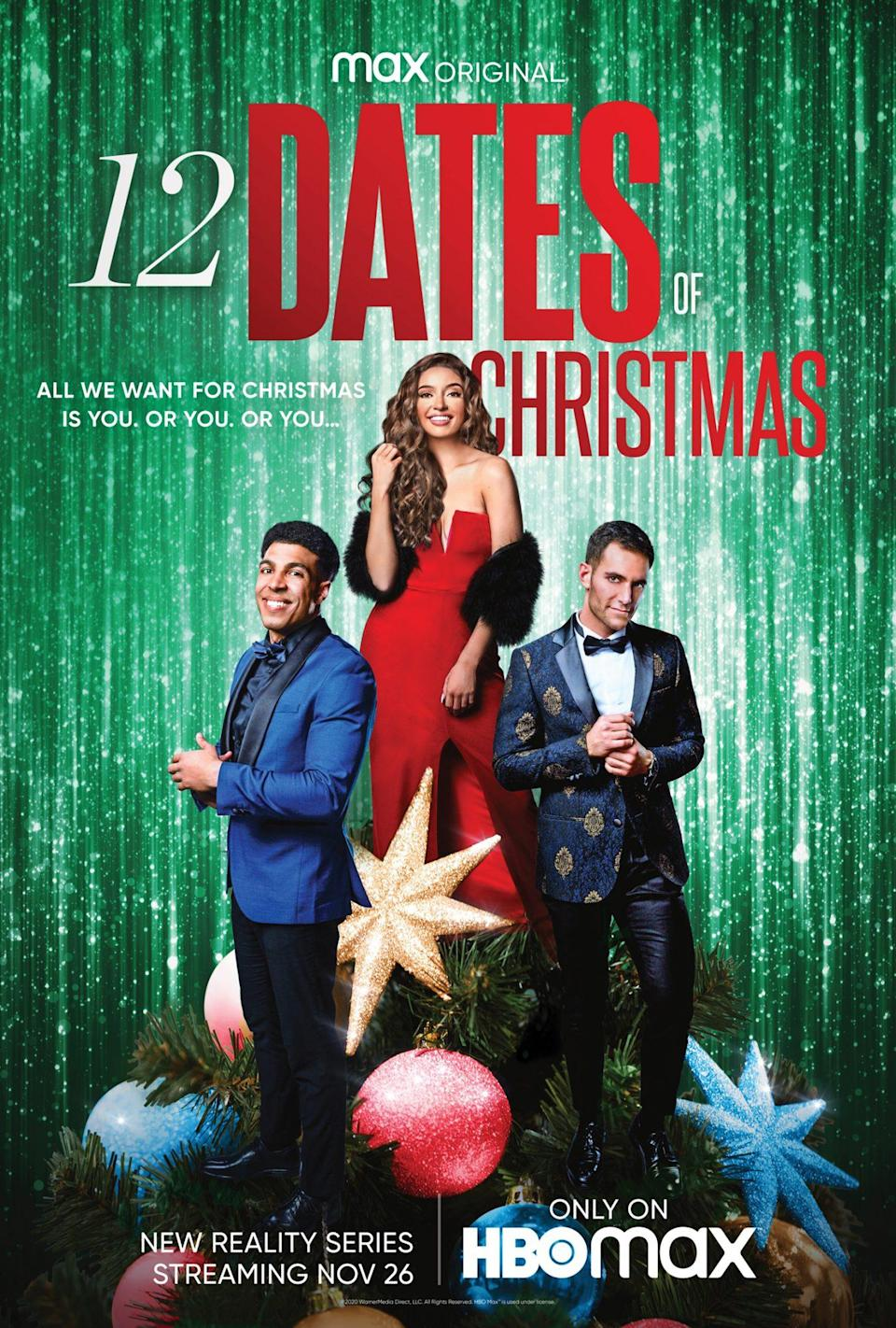 "<p>A seasonal dating show with one end goal: to bring a special someone home for the holidays. I'm surprised the <em>Bachelor</em> franchise didn't come up with this first!</p> <p><em>Stream it on</em> <a href=""https://play.hbomax.com/page/urn:hbo:page:GX6MzzwZycJYSwwEAAALF:type:series?utm_id=sa%7C71700000076575476%7C58700006525808333%7Cp59013857162&gclsrc=aw.ds&&gclid=EAIaIQobChMI1v_PqurQ7QIVoAeICR11zQlEEAAYASAAEgJYbfD_BwE"" rel=""nofollow noopener"" target=""_blank"" data-ylk=""slk:HBO Max"" class=""link rapid-noclick-resp""><em>HBO Max</em></a>. </p>"
