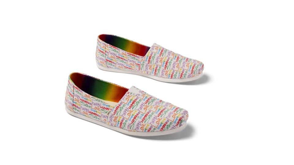 The Unity Collection by Toms features footwear, as well as other cute accessories.