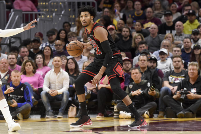 After leaving Wednesday's game with a foot injury, Bulls forward Otto Porter Jr. will be sidelined for the foreseeable future. (Jason Miller/Getty Images)