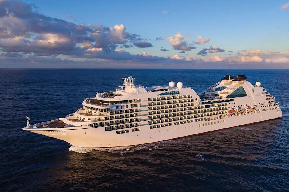 Aerial of Seabourn Encore