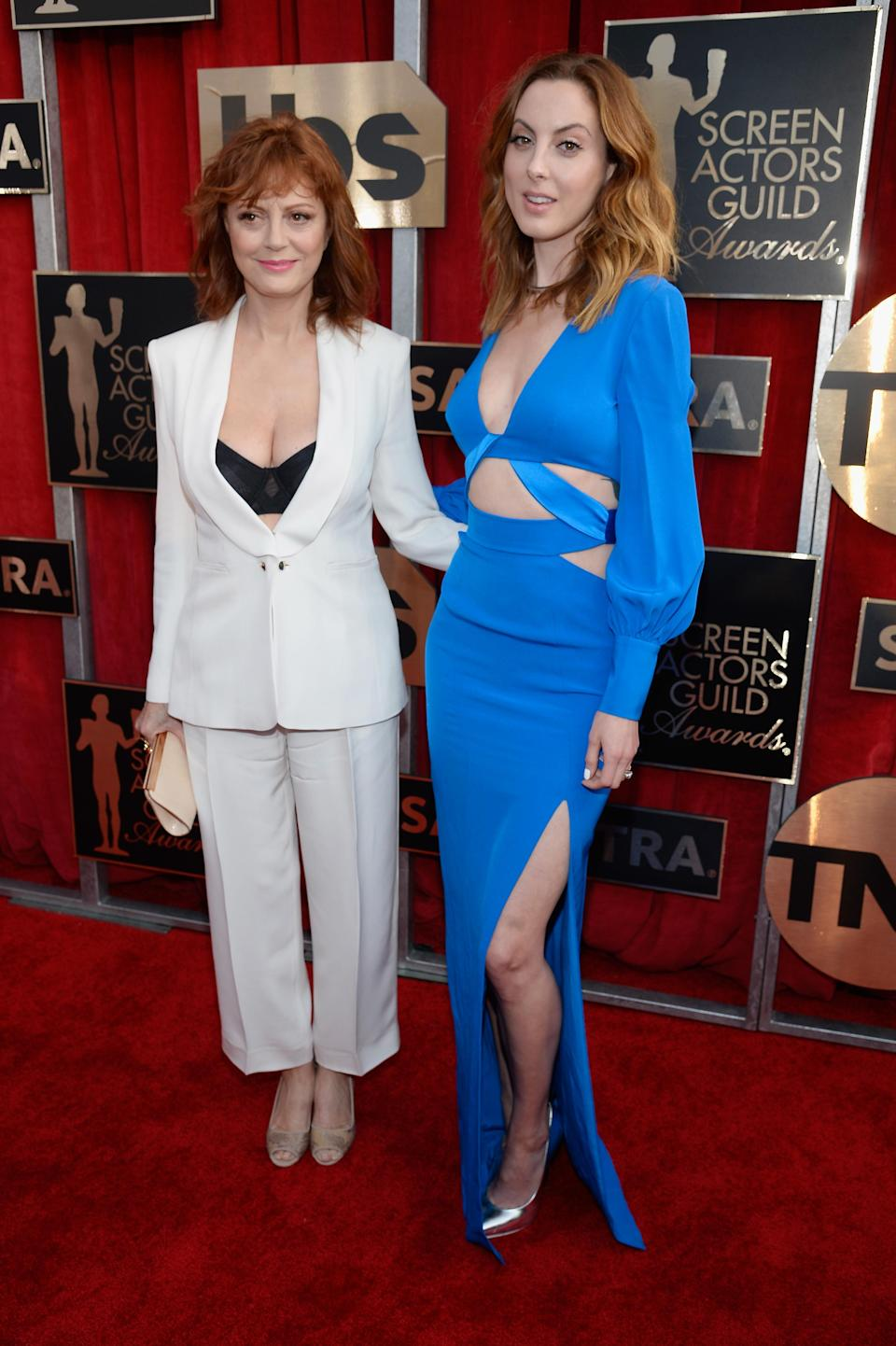 <p>Susan Sarandon's daughter Eva is also an actress – and sports the same auburn hair. Eve's acted in a number of her mum's films, including 'The Banger Sisters' and 'Dead Man Walking.' <em>[Photo: Getty]</em> </p>