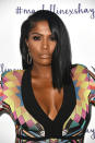 <p>Beauty vlogger and influencer Shayla Mitchell celebrated her new makeup collaboration with Maybelline looking bronzed and beautiful. Voluminous false eyelashes and a pale nude lip add the finishing touch. (Photo: Frazer Harrison/Getty Images) </p>