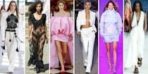 """<p class=""""body-dropcap"""">New York Fashion Week came and went in a flash of indoor and outdoor shows, parties, panels, and those long street style walks. The fashion flock returned without missing a beat. But are they forever changed? If it's any indication, the runways were certainly influenced by a year and a half of lockdown. Instead of leaning in to those comfort moments, designers pivoted to overt femininity and true partywear, from naked dresses to bikini tops, gingham to pink. Here, six standout trends from the week. </p>"""