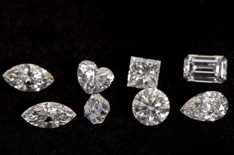 Different cuts of diamond