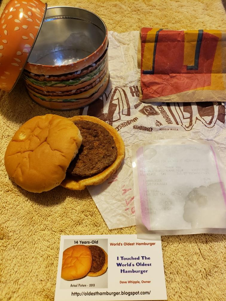 Dave Whipple of Utah says he purchased a hamburger from McDonald's in 1999, that has stood the test of time. (Photo: Courtesy of Dave Whipple)