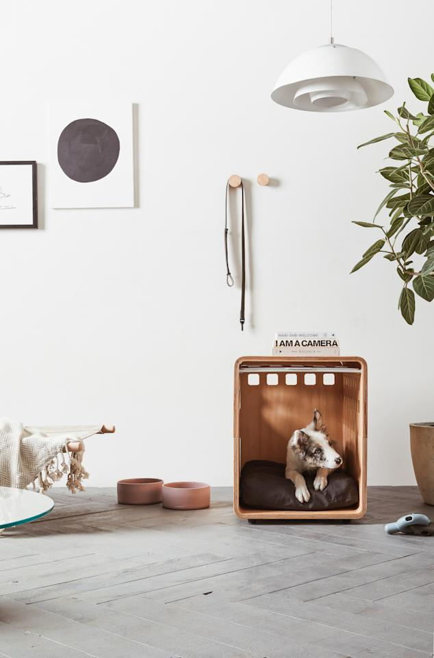"We've mentioned these beautiful, Scandi-inspired pet products <a href=""https://www.architecturaldigest.com/story/articles-teeny-tiny-furniture-clever-finds?mbid=synd_yahoo_rss"" rel=""nofollow"">before</a>, but they're worth mentioning again! Fable is all about modern, minimal, and functional pieces that blend in, while fostering the well-being of your pet. Every detail of their crates, bowls, toys, and collars feels special. Their <a href=""https://fablepets.com/products/crate"" rel=""nofollow"">dog crate</a> would definitely pass as an IKEA side table in your living room."