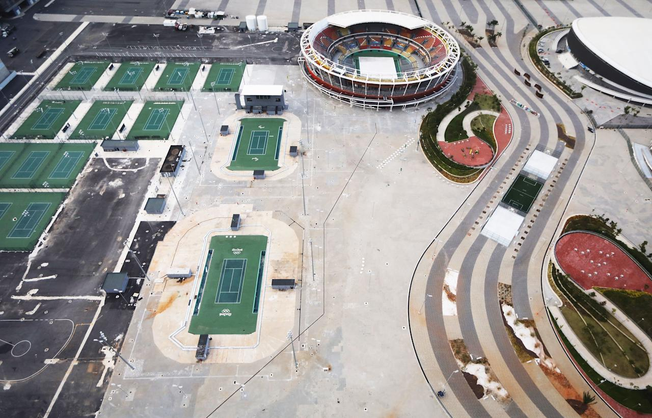 <p>All of the stadiums, courts, and parking lots remain completely empty.</p>