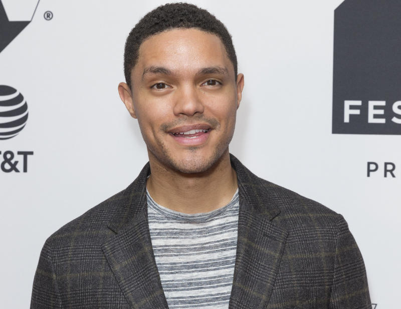 Trevor Noah attends Conversation with Trevor Noah & the writers of the Daily Show during Tribeca TV festival at Cinepolis Chelsea.