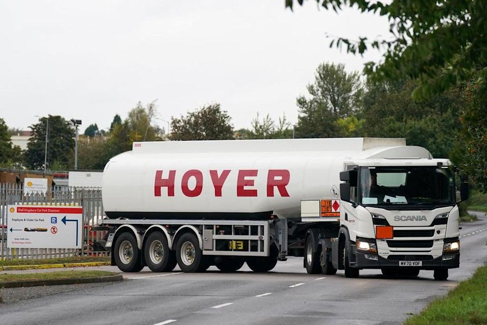 The Prime Minister said HGV drivers should be 'decently paid' (Jacob King/PA) (PA Wire)