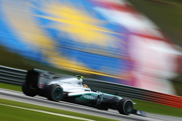 KUALA LUMPUR, MALAYSIA - MARCH 23: Lewis Hamilton of Great Britain and Mercedes GP drives during the final practice session prior to qualifying for the Malaysian Formula One Grand Prix at the Sepang Circuit on March 23, 2013 in Kuala Lumpur, Malaysia. (Photo by Paul Gilham/Getty Images)