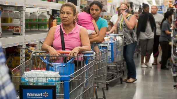 PHOTO: Canned food shelves at Walmart in Fort Lauderdale, Fla., Sept. 5, 2017, while residents stock up with groceries in preparation for hurricane Irma. (Orit Ben-Ezzer/ZUMA Press/Splash)
