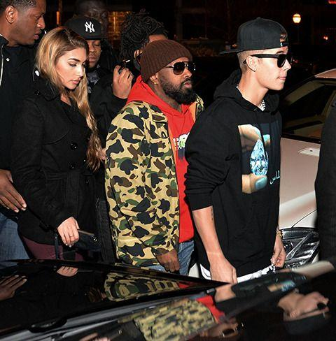 Chantel with The Biebs on Feb. 5 in Atlanta, Georgia. Credit: Getty Images