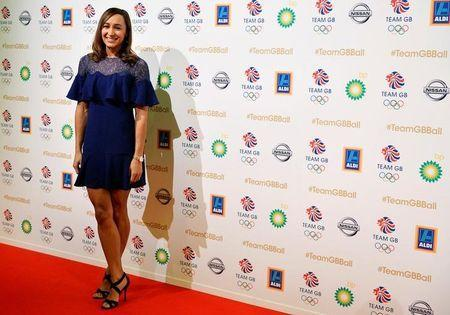 Jessica Ennis-Hill poses at the ball for Britain's Olympic and Paralympic teams at Battersea Park in London, Britain, November 30, 2016. REUTERS/Hannah McKay/Files