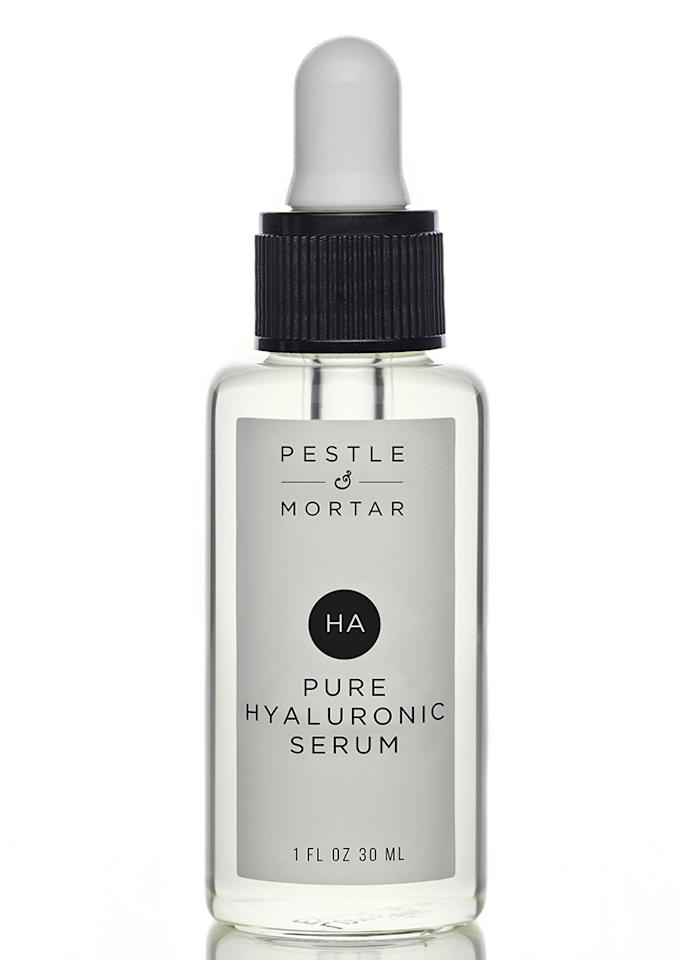 """Pestle and Mortar Pure Hyaluronic Serum, $69 at <a rel=""""nofollow"""" href=""""http://www.pestleandmortar.com/us/product/hyaluronic-acid-serum/"""">Pestle and Mortar</a>"""