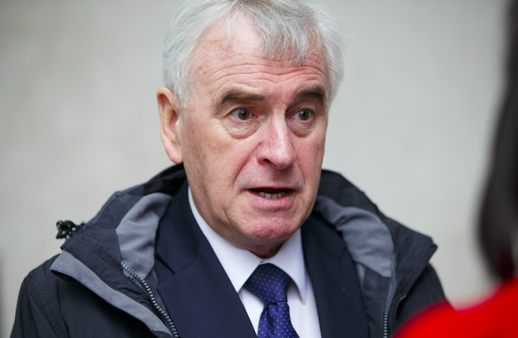 Shadow chancellor John McDonnell suggested Labour would want a second referendum (Rex)