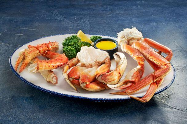 PHOTO: The Crabfest Trio at Red Lobster is another seafood option available for gluten-free diners. (Red Lobster)