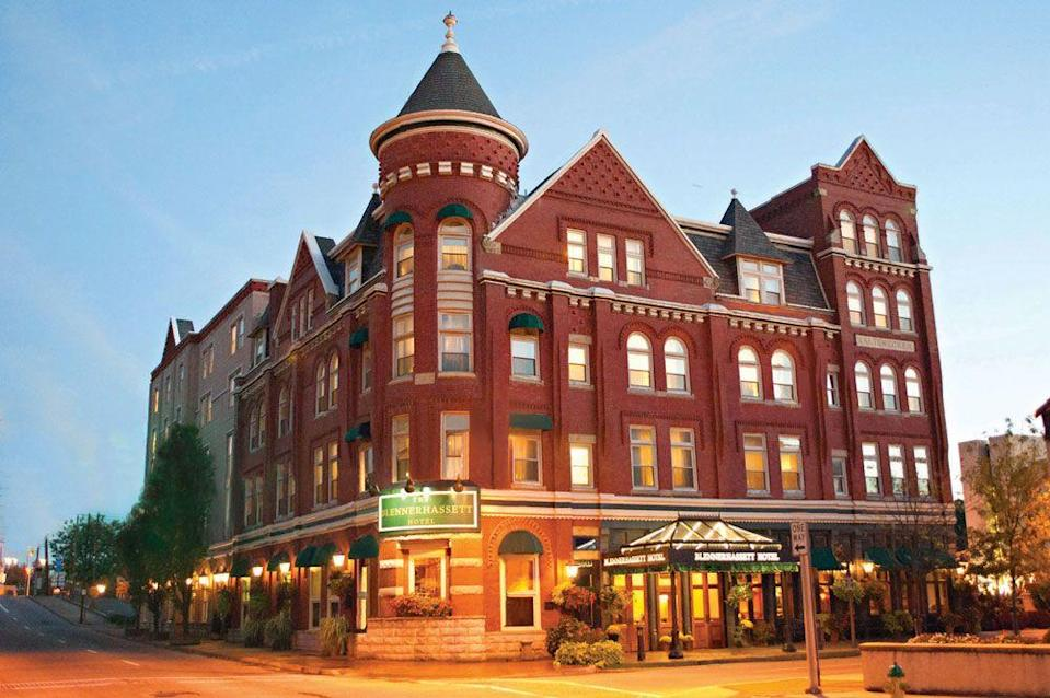 """<p>This well-appointed West Virginia hotel is the cornerstone of noted author and medium Susan Sheppard's haunted walking tour, which takes brave souls around to the numerous haunted buildings in quaint Parkersburg.<br></p><p> <a class=""""link rapid-noclick-resp"""" href=""""https://go.redirectingat.com?id=74968X1596630&url=https%3A%2F%2Fwww.tripadvisor.com%2FHotel_Review-g59401-d100305-Reviews-The_Blennerhassett_Hotel-Parkersburg_West_Virginia.html&sref=https%3A%2F%2Fwww.countryliving.com%2Flife%2Ftravel%2Fg2689%2Fmost-haunted-hotels-in-america%2F"""" rel=""""nofollow noopener"""" target=""""_blank"""" data-ylk=""""slk:PLAN YOUR TRIP"""">PLAN YOUR TRIP </a></p>"""