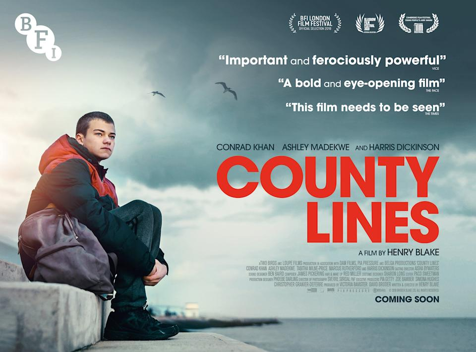 <p>The poster for the Film County lines</p>Film handout