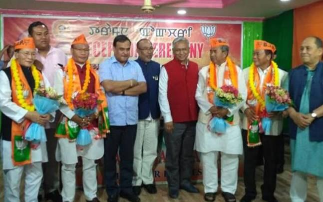 Day after Rahul Gandhi's emergency northeast meet, four Congress MLAs join BJP in Manipur