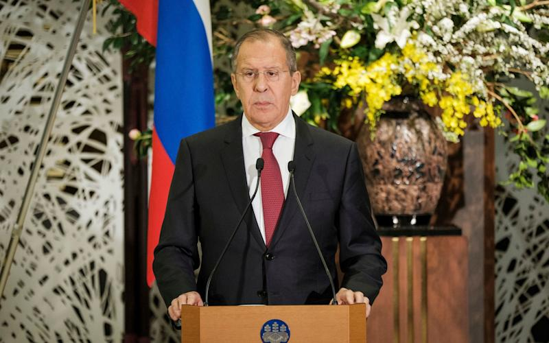 Russian Foreign Minister Sergey Lavrov urged the British government to