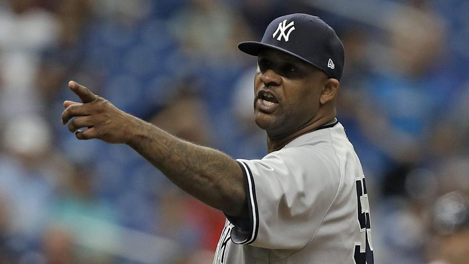 Yankees' pitcher CC Sabathia hit with five-game suspension for role in hit by pitch during Thursday's game with the Rays. (AP)