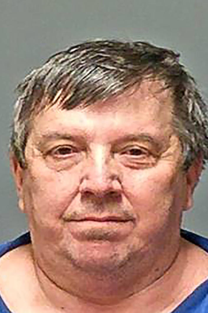 This undated handout booking photo provided by the New Hampshire Attorney General's office shows Lucien Poulette, one of six men arrested Wednesday, April 7, 2021, in connection with sexual abuse allegations at New Hampshire's state-run youth detention center, the attorney general's office said. (New Hampshire Attorney General's Office via AP)