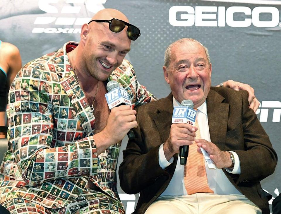 Tyson Fury and promoter Bob Arum  (Getty Images)