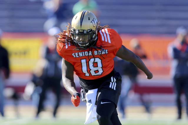 "<a class=""link rapid-noclick-resp"" href=""/ncaaf/players/228732/"" data-ylk=""slk:Shaquem Griffin"">Shaquem Griffin</a> of UCF is headed to the NFL Scouting Combine. (AP Photo)"