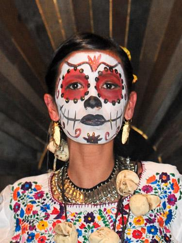"""<div class=""""caption-credit""""> Photo by: Getty Images</div><div class=""""caption-title"""">The Inspiration</div>During fashion month, Día de los Muertos was definitely all over the runways with Rebecca Minkoff's manicures and Givenchy's jeweled masks. We decided not to wait until spring to go skeletal and are taking the look out for a spin this Halloween. <br>"""