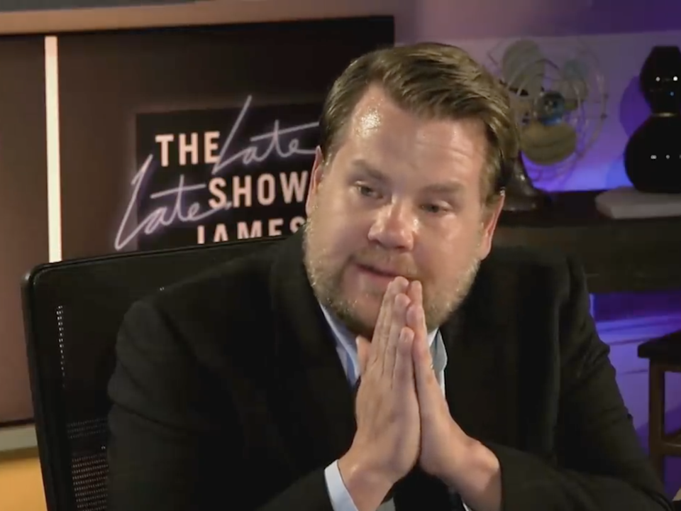 James Corden speaks through tears as he discusses racism on his US talk show: CBS Television