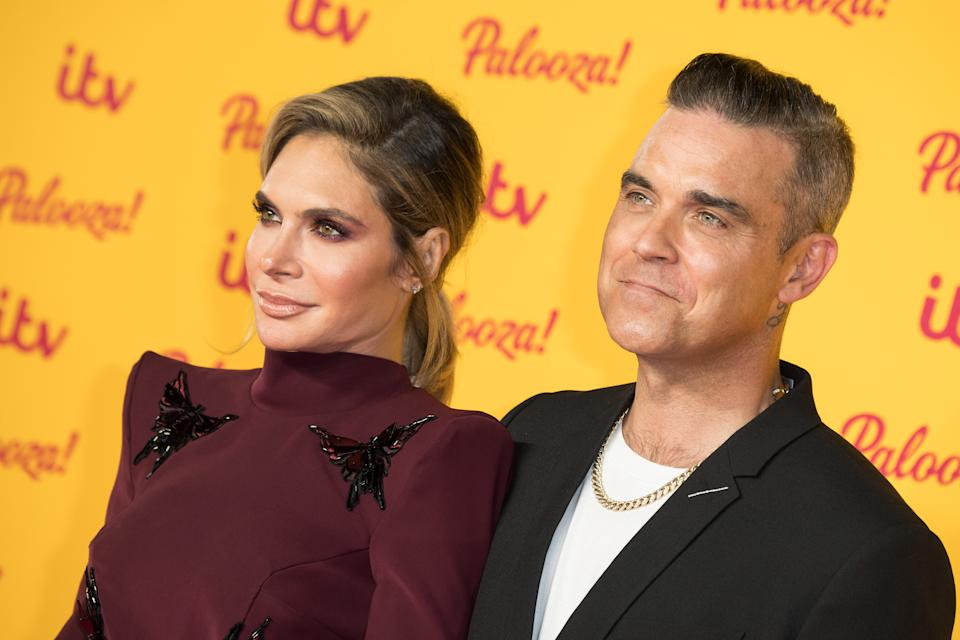 Ayda Williams and Robbie Williams attend the ITV Palooza! held at The Royal Festival Hall on October 16, 2018 in London, England.  (Photo by Jeff Spicer/WireImage)