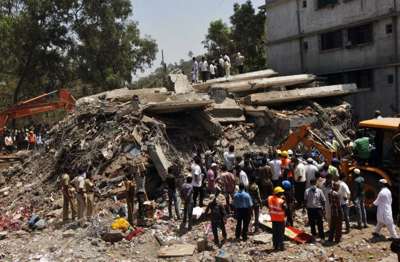 Building collapses in India; at least 45 dead
