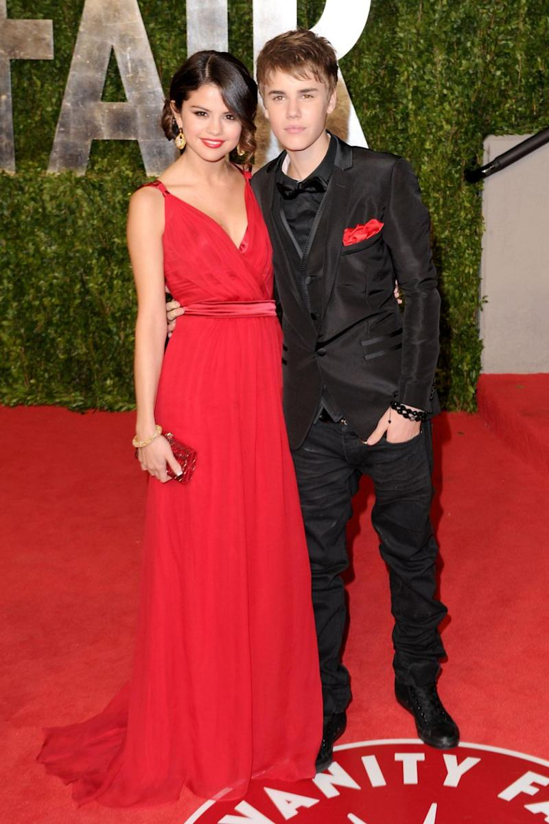 It had been suggested they'd been fighting over her recent rekindling with ex Justin Bieber, seen here in 2011. Source: Getty