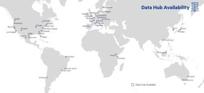 Map of Digital Realty Data Hub solution global availability on PlatformDIGITAL®