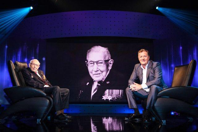 Captain Sir Tom Moore appeared on Piers Morgan's Life Stories. (ITV)