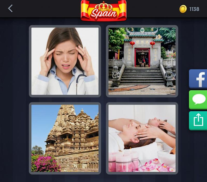 4 Pics 1 Word' Daily Challenge May 8: Today's 6-Letter Spain Puzzle ...