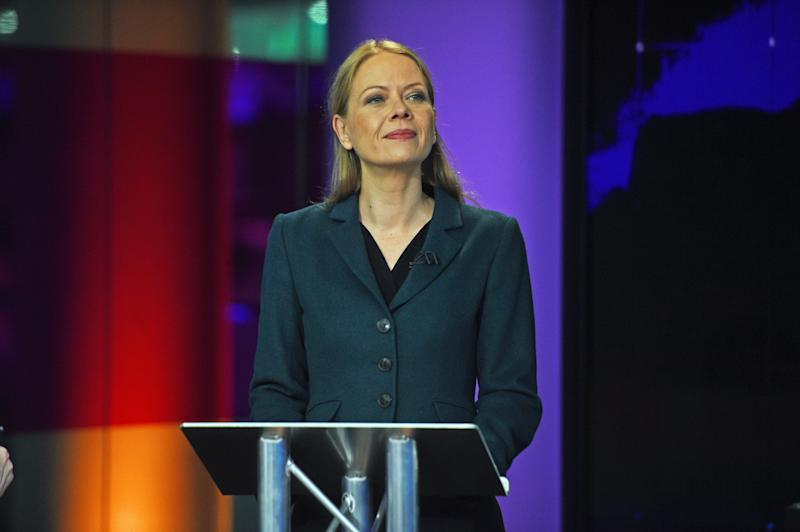 Green Party Co-Leader Sian Berry before the start of the Channel 4 News' General Election climate debate at ITN Studios in Holborn, central London.