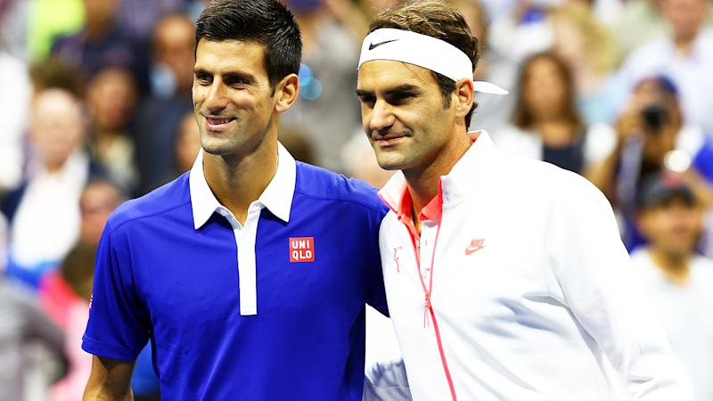 Novak Djokovic and Roger Federer, pictured here at the 2015 US Open.