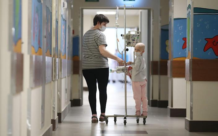 Some paediatric cancer units were even forced to close for periods during Covid-19 - Valery Sharifulin/TASS